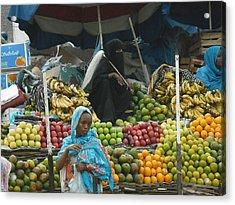 Market Of Djibuti-2 Acrylic Print by Jenny Senra Pampin