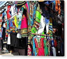 Market Of Djibuti With More Colors Acrylic Print by Jenny Senra Pampin