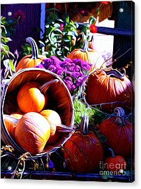 Acrylic Print featuring the photograph Market Place by Anne Raczkowski