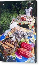 Market Stall, Grenada Acrylic Print by David Nunuk