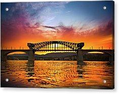 Market Street Bridge Acrylic Print by Steven Llorca
