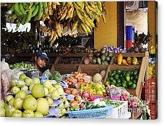 Market Vendor Acrylic Print by Li Newton