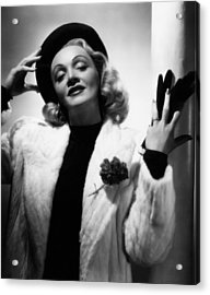 Marlene Dietrich, Ca. Early 1940s Acrylic Print by Everett
