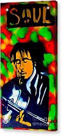 Marley Rasta Guitar Acrylic Print
