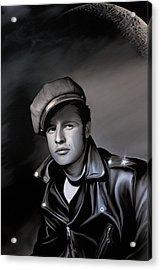 Marlon Brando  Acrylic Print by Andrzej Szczerski