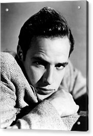 Marlon Brando, Early 1950s Acrylic Print by Everett