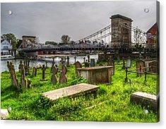 Marlow Bridge From All Saints Graveyard Acrylic Print by Chris Day