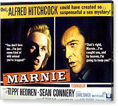 Marnie, Tippi Hedren, Sean Connery, 1964 Acrylic Print by Everett