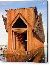 Acrylic Print featuring the photograph Marquette Ore Docks by Mark J Seefeldt
