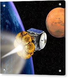 Mars Express Booster Rocket, Artwork Acrylic Print