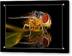 Acrylic Print featuring the digital art Mars Fly 02 by Kevin Chippindall