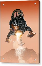 Mars Lander, Artwork Acrylic Print by Victor Habbick Visions
