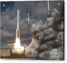 Mars Science Laboratory Rover Curiosity Acrylic Print by NASA Scott Andrews Canon