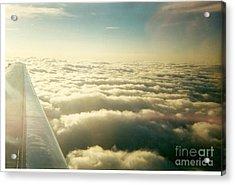 Marshmallow Clouds Acrylic Print