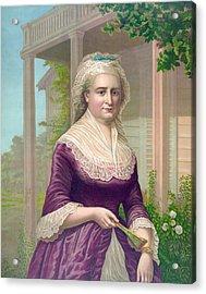 Martha Washington, Colored Lithograph Acrylic Print by Everett