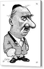 Martin Heidegger, Caricature Acrylic Print by Gary Brown