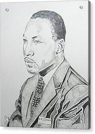 Martin Luther King Jr. Acrylic Print by John Keaton