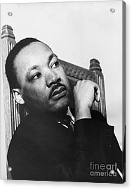 Martin Luther King, Jr Acrylic Print by Photo Researchers