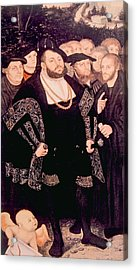 Martin Luther Left With His Friends Acrylic Print by Everett