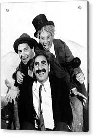 Marx Brothers, The Chico, Groucho Acrylic Print by Everett
