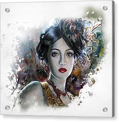 Mary Lips Like Cherries Acrylic Print by Tanya Jacobsz