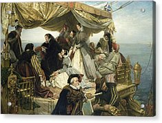 Mary Stuart's Farewell To France Acrylic Print by Henry Nelson O Neil