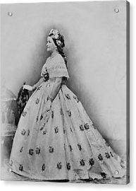 Mary Todd Lincoln 1818-1882, As First Acrylic Print by Everett
