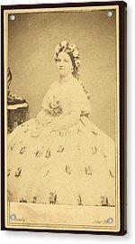 Mary Todd Lincoln 1818-1882 Acrylic Print by Everett
