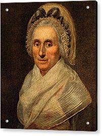 Mary Washington - First Lady  Acrylic Print by International  Images