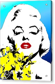 Acrylic Print featuring the painting Marylin Monroe by Jann Paxton