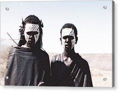 Masai Teens On Quest Acrylic Print