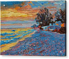 Masasota Key Sunset Acrylic Print by Thomas Bertram POOLE