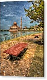 Masjid Putra Acrylic Print by Adrian Evans