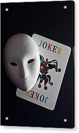 Mask And Joker Acrylic Print by Kantapong Phatichowwat