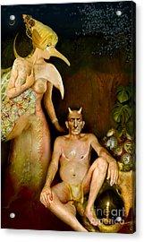 Masquerade - Beyond The Comedy Acrylic Print by Alexei Solha