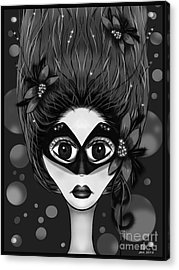 Masquerade Bw Acrylic Print