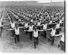 Mass Gymnastics Acrylic Print by Archive Photos