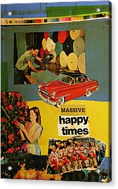 Massive Happy Times Acrylic Print by Adam Kissel