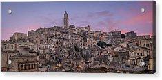 Matera Skyline Acrylic Print by Michael Avory