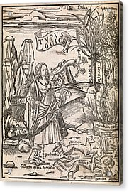 Mathematical Logic, 1503 Acrylic Print by Middle Temple Library