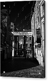 Mathew Street In Liverpool City Centre Birthplace Of The Beatles Merseyside England Uk Acrylic Print by Joe Fox