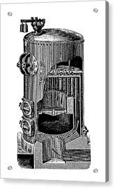Mathian Steam Boiler Acrylic Print by Mark Sykes