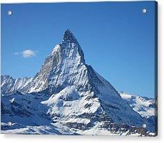 Matterhorn Acrylic Print by Dion Halliday