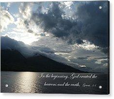Maui Scripture II Acrylic Print by Mike Lytle