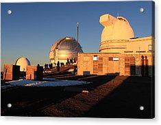 Acrylic Print featuring the photograph Mauna Kea Observatories by Scott Rackers