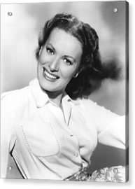 Maureen Ohara, Paramount Pictures, 1950 Acrylic Print by Everett