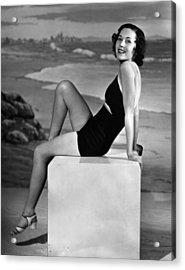 Maureen Osullivan, Ca. 1930s Acrylic Print by Everett