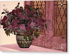 Mauve Bouquet Acrylic Print by Ranjini Kandasamy