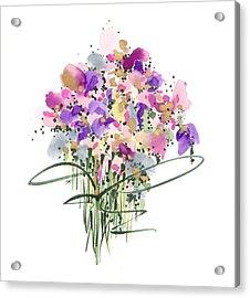 Mauvey Bouquet Acrylic Print