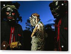 Maya Dancers Dressed As Hunters Acrylic Print
